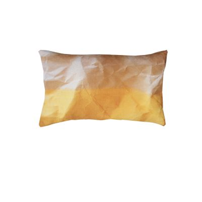 Mello Yellow Crinkled Paper Print Rectangular Cushion