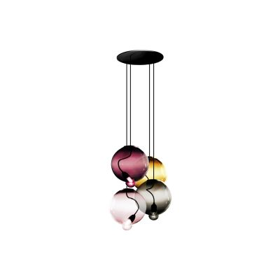Meltdown Cluster Lamp With 4 Diffusers Amber/Pink/Amethyst/Dove