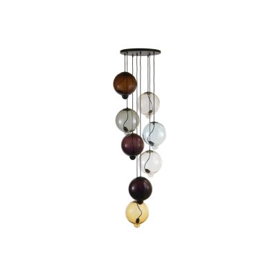 Meltdown Cluster Lamp With 8 Diffusers Amber/Tobacco/Pink/Amethyst/Light Blue/Dove/Rosa
