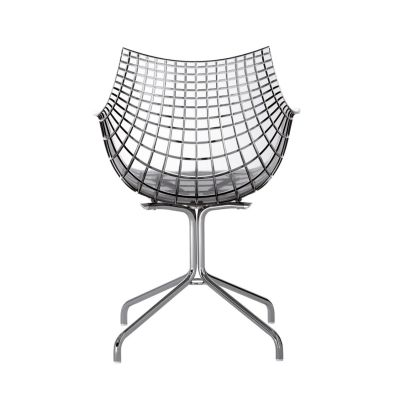Meridiana Chair with Swivel Base Matt Black, White
