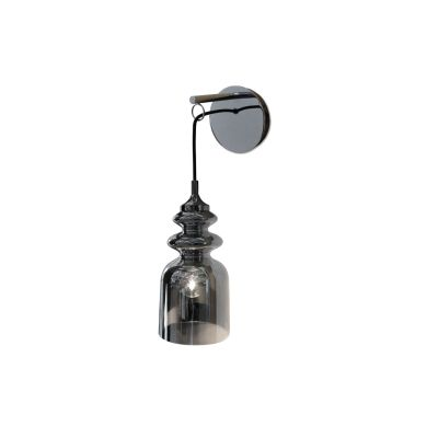 Messalina Wall Lamp Satin bronze, Diffusing bronzed glass