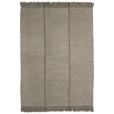 Mia Rug Base Colour  Stone, 170 x 240 cm, Detail  Vertical fringing, Finish  Stone, Braided Seam Colour  Stone
