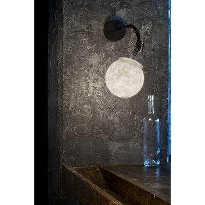 Micro Luna Applique Wall Light Black