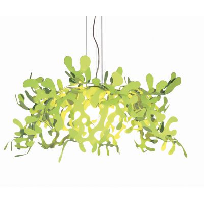 Midileaves Pendant Light 131 Silver Foil, 105cm