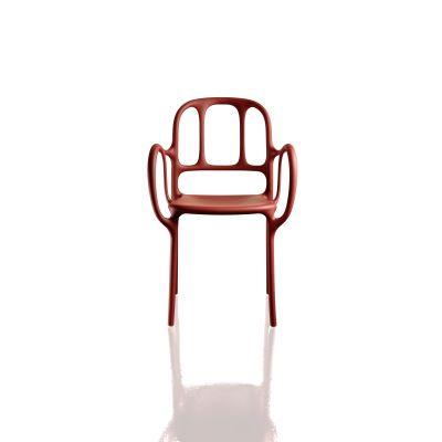 Milà Stacking Armchair - Set of 2 Matt Red