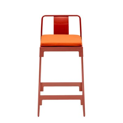 MINGX - Outdoor Low Stool With Back Orange