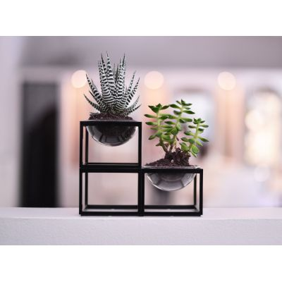 MINI PLANTER SET - 3 PIECES, BLACK FRAME MINI PLANTER SET - 3 PIECES, BLACK FRAME