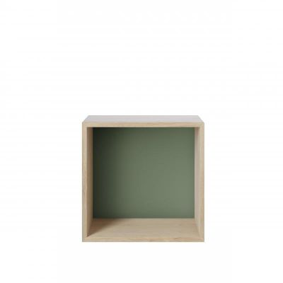 Mini Stacked Storage System / 2.0 with Backboard Set of 2 Dusty Green