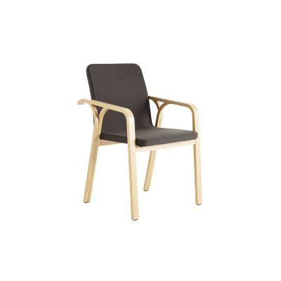 Mino Armchair Oak Natural Lacquer, Main Line Flax Newbury