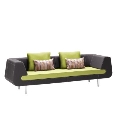 Mirage 3 Seater Sofa Black and Lime