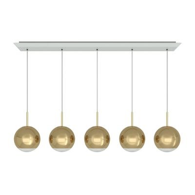 Mirror Ball 25 cm Linear Pendant System Gold