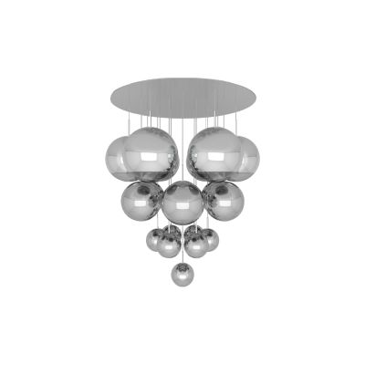 Mirror Ball Mega Pendant System Chrome