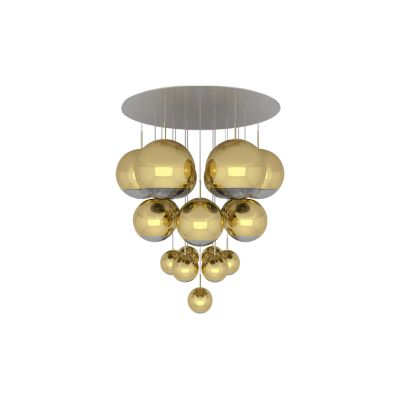 Mirror Ball Mega Pendant System Gold