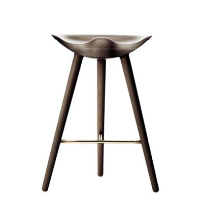 ML42 Counter Stool Brown Oiled Oak / Brass
