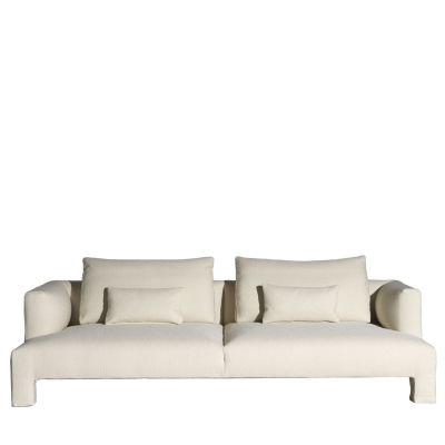 Mod Three-Seater Sofa Cairo - Bianco 01