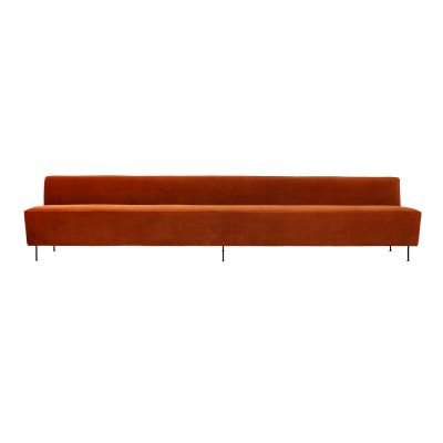Modern Line Sofa - Dining Height Dunes 21001 Dark Brown, Frame Matt Black, 200