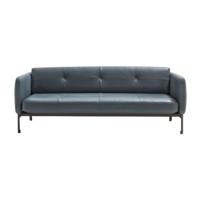 Modernista 2 Seater Sofa A3045 - Steelcut Trio 2 683 violet, White Chalk, 200 x 91 x 76