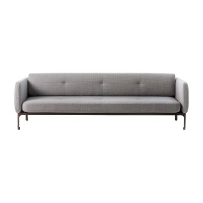 Modernista 3 Seater Sofa A3045 - Steelcut Trio 2 683 violet, White Chalk