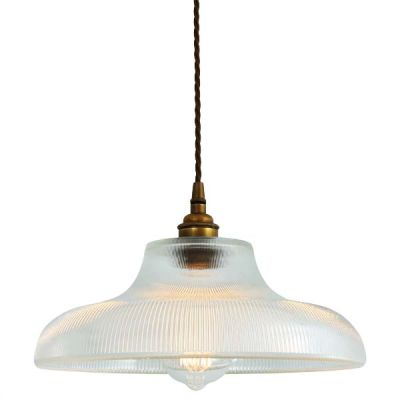 Mono Industrial 38cm Railway Pendant Light Antique Brass
