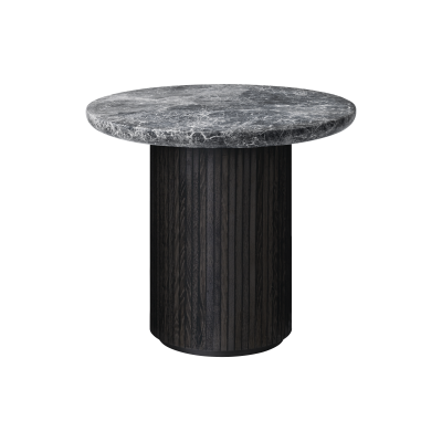 Moon Round Marble Lounge Table Gubi Marble Bianco Carrara