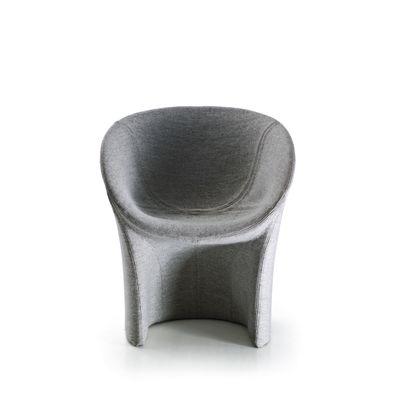 Moon Small Armchair B0211 - Leather Oil cirè