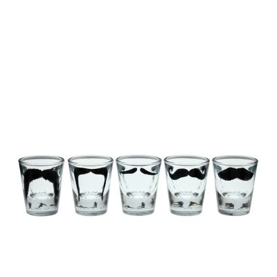 Moustache Shot Glasses Set of Five