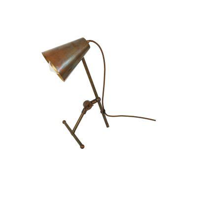 Moya Table Lamp Satin Brass, UL Plug