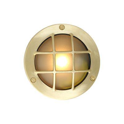 Muara Flush Wall Light Satin Brass