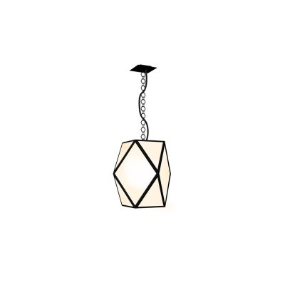 Muse Outdoor Pendant Light Muse White Pearl Lacquered, Large