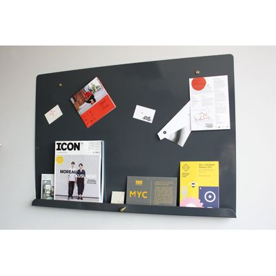 Myosotis Grande Notice Board Graphite Grey