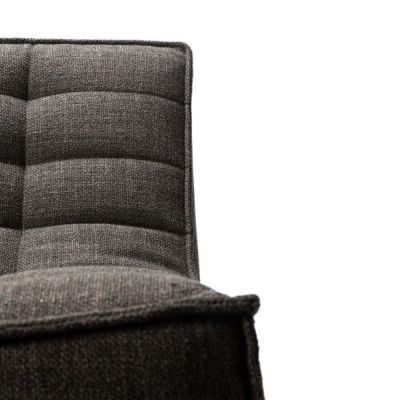 N701 1 Seater Sofa Dark Grey