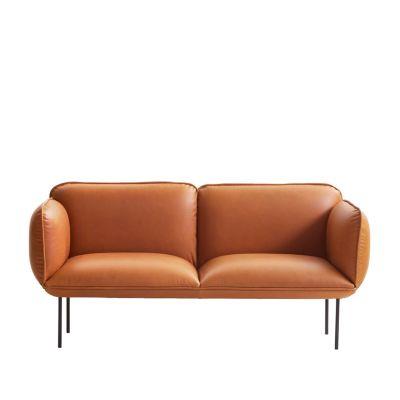 Nakki 2-seater sofa Leather Silk SIL0197 Cream