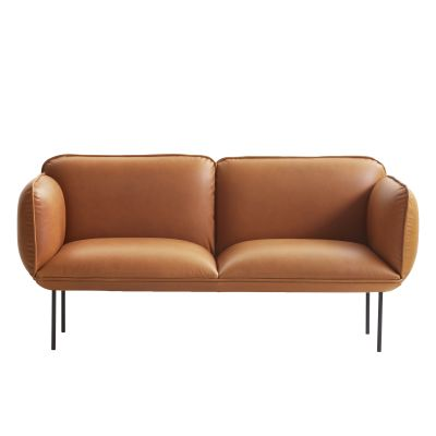 Nakki 2-Seater Sofa Leather Silk SIL0197 Cream