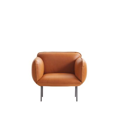 Nakki Armchair Leather Silk SIL0197 Cream
