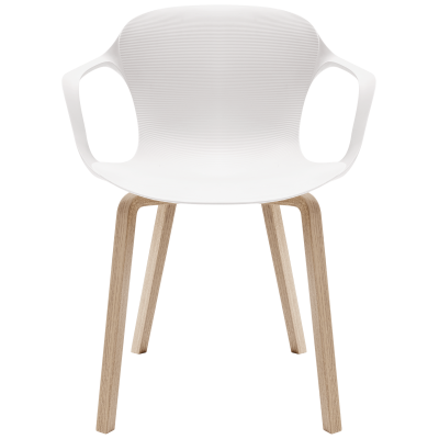 Nap armchair - wooden legs Sky Blue