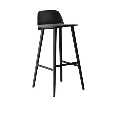 Nerd Bar Stool Black, 75cm