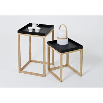 Nest Pair of Tables Nest Pair of Tables - Black/Oak