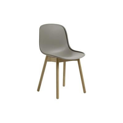 Neu13 Chair Cream white, Matt lacquered solid ash