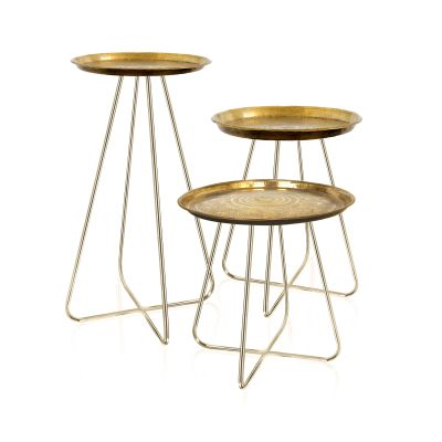 New Casablanca Table Brass New Casablanca Table Brass Set