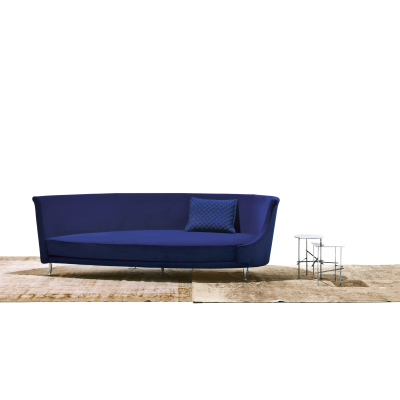 NewTone Drop Right Aligned Sofa B0211 - Leather Oil cirè, Large