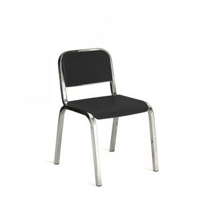 Nine-O Stacking Chair Gray, Polished, Soft