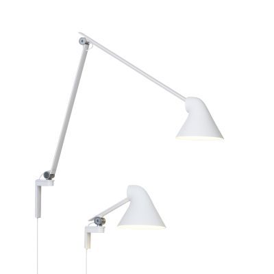NJP Wall Light White, Short Arm
