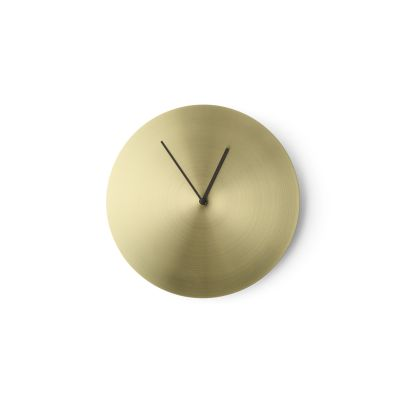 Norm Wall Clock Bronzed Brass