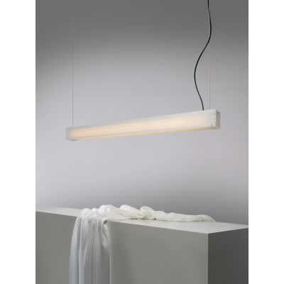 Norman Pendant Light Red, Transparent Cable