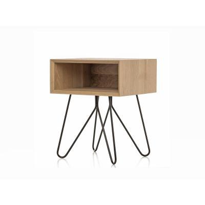 Nove side table  black legs