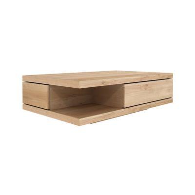 Oak Flat Coffee Table 130 x 80 x 37 cm