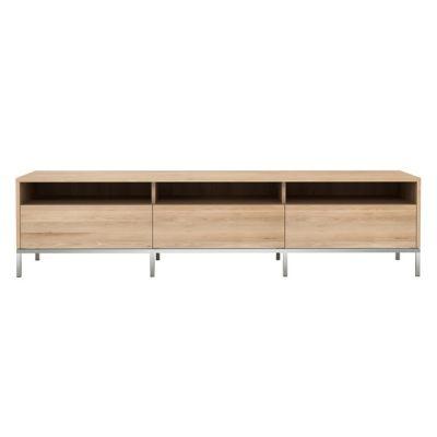 Oak Ligna TV cupboard 3 drawers
