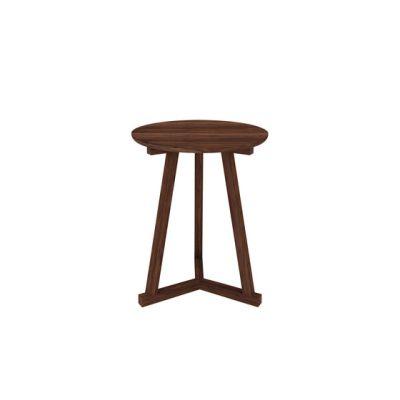 Oak Tripod Side Table Walnut, 46
