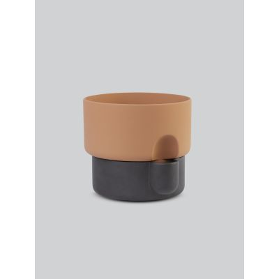 Oasis Flower Pot Large, Dark Brown