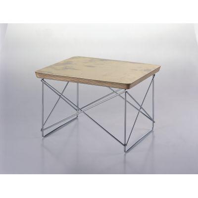 Occasional Table LTR Gold Leaf Top, Chromed Base